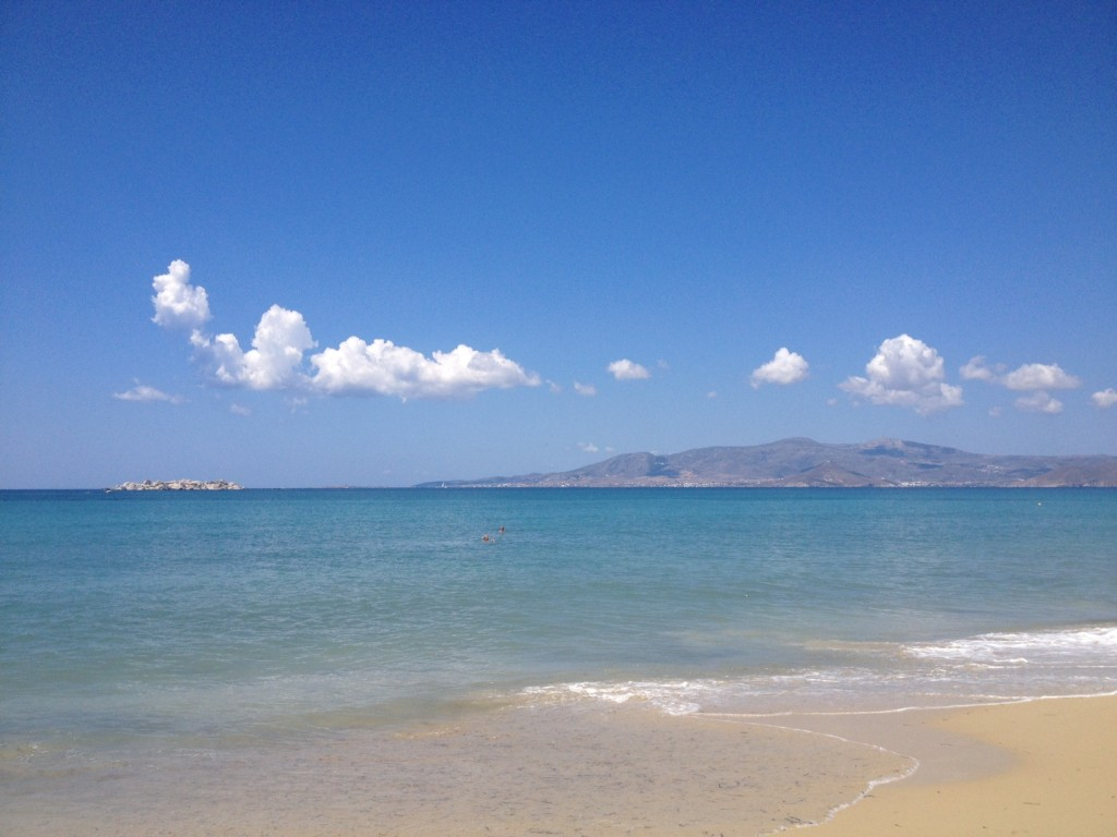 naxos tengerpartja