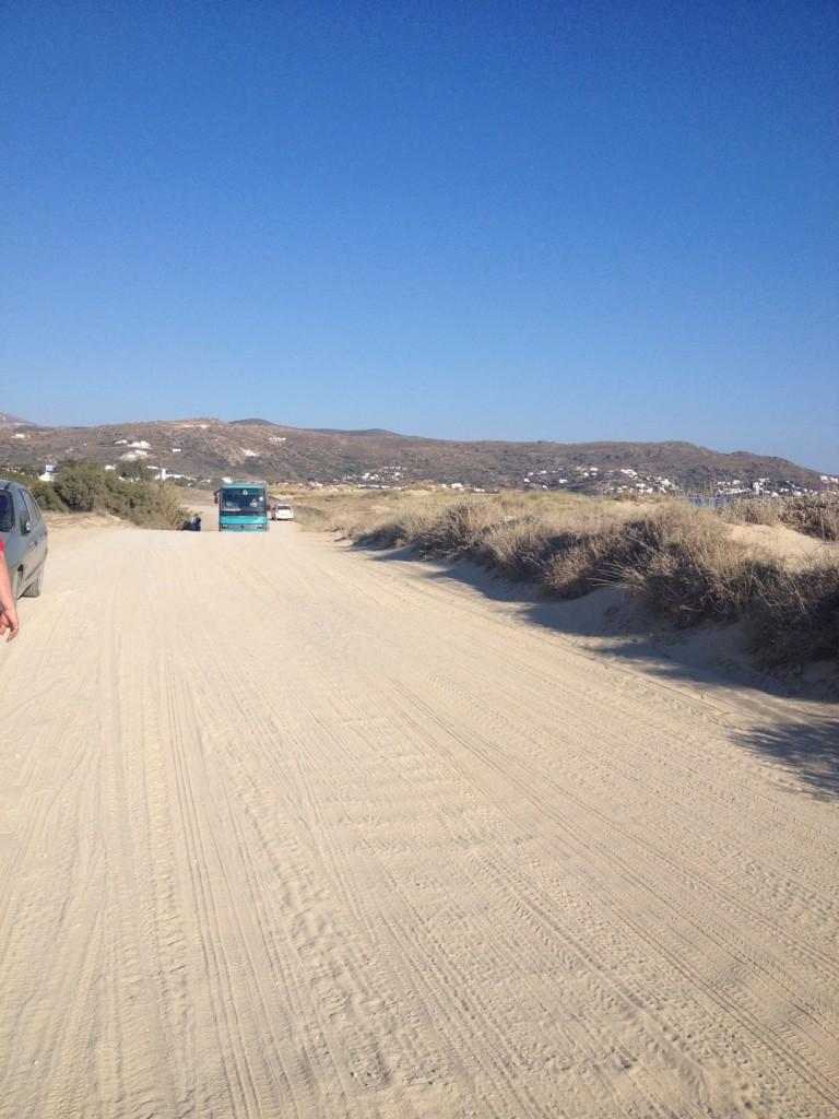Naxos - Plaka beach út, főút