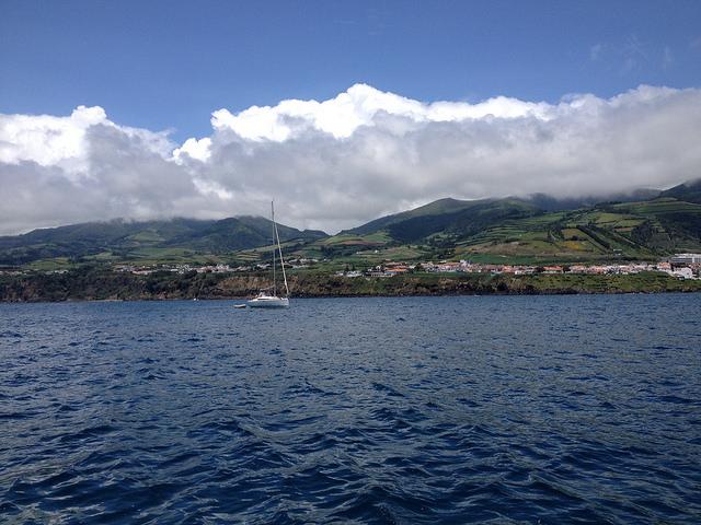 Sao Miguel a tengerről nézve