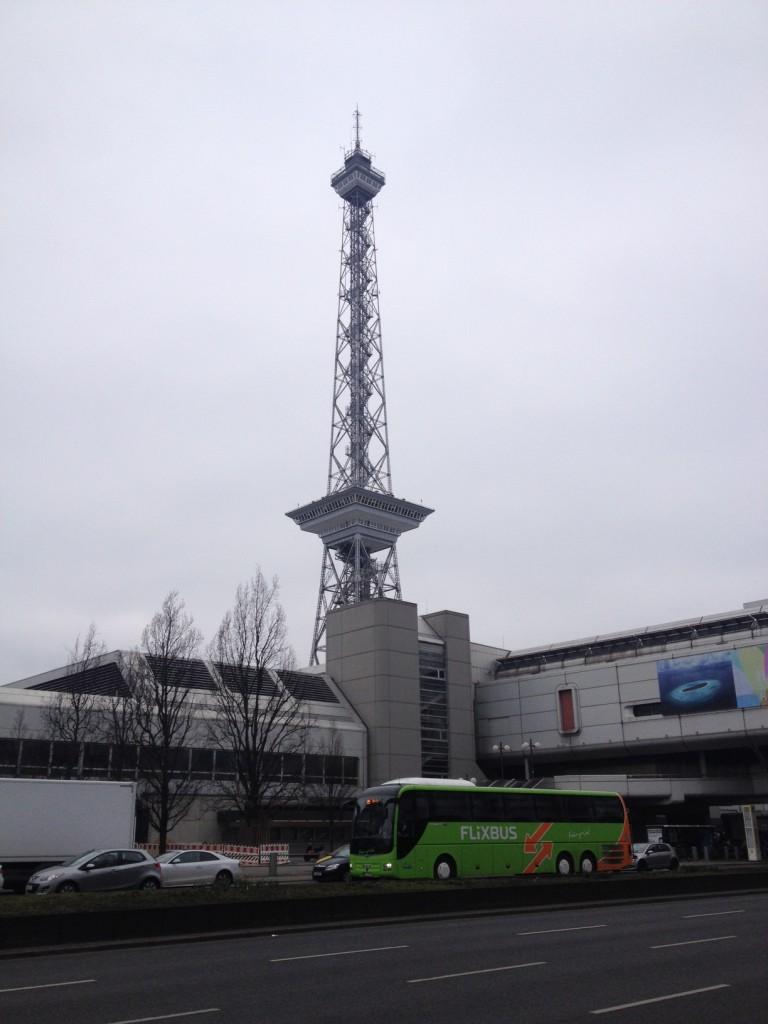 A Messe vásártér a berlini rádiótorony körül hatalmas területet foglal el