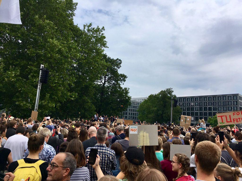 Tüntetésen Berlinben - Fridays for Future