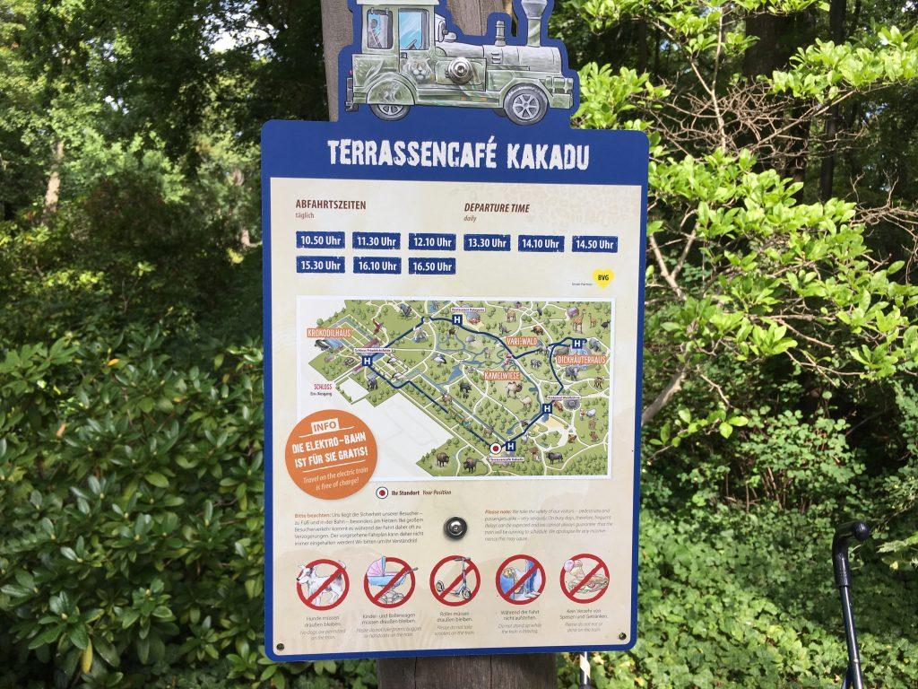 A kisvonat tudnivalói a Tierpark Berlinben