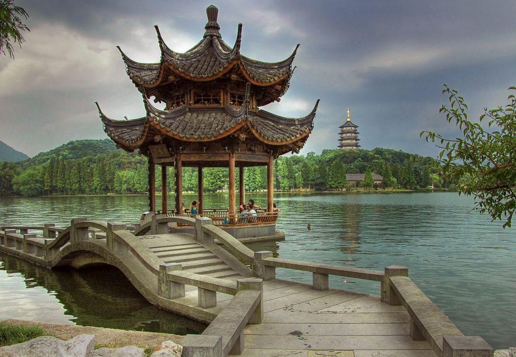 egy hónap Kína, Nyugati-tó Kínában.