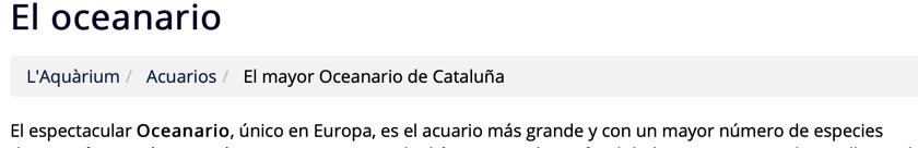 barcelonai akvárium katalonia