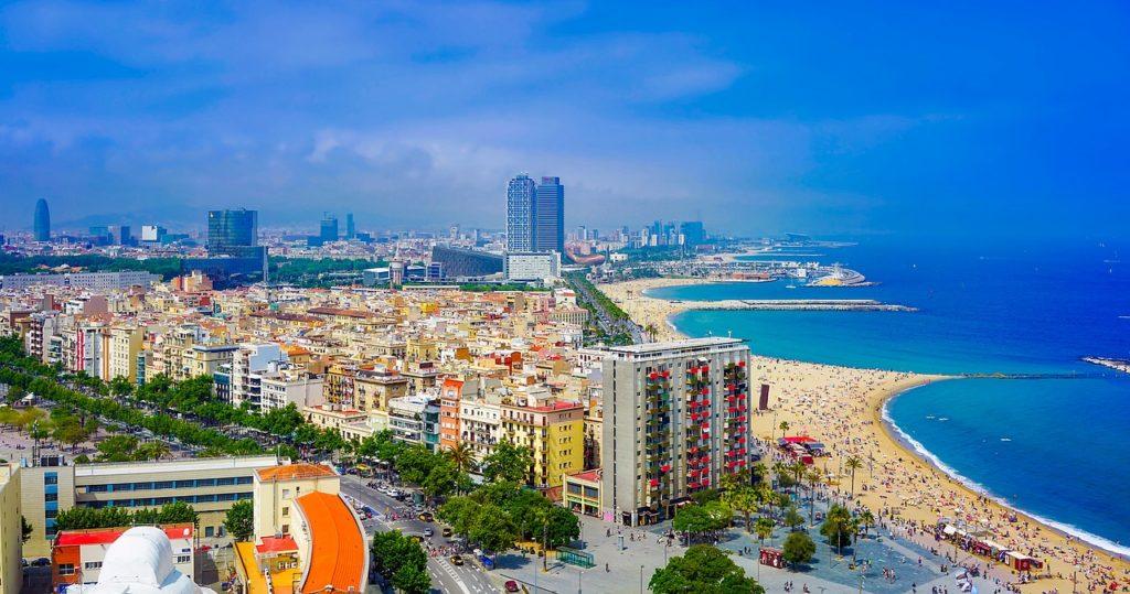 barcelonai tengerpartok a magasból