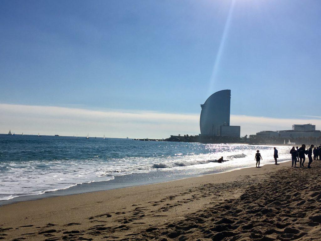 barcelonai tengerpartok novemberben