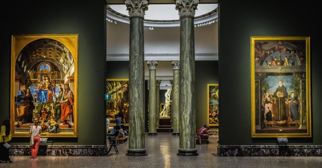 A Brera képtár Milánóban