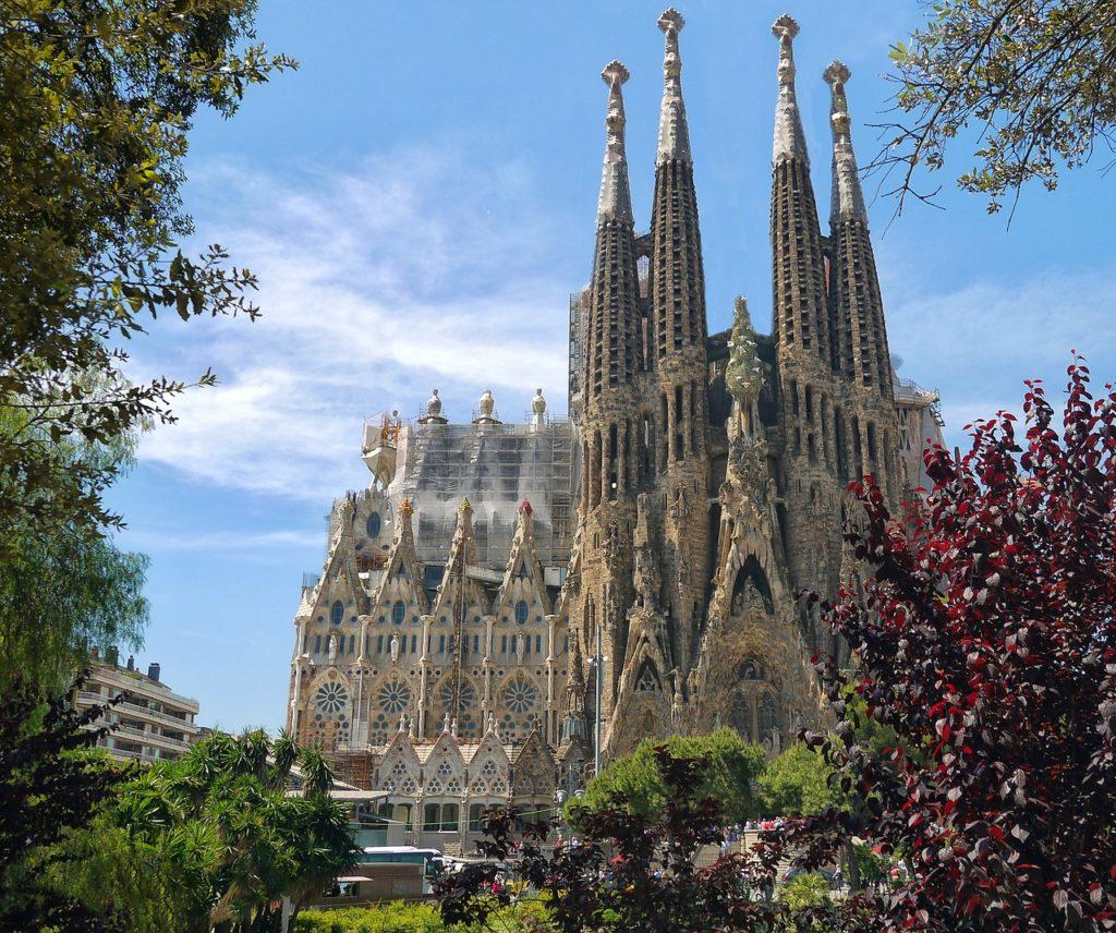 A sagrada Familia templom kívülről
