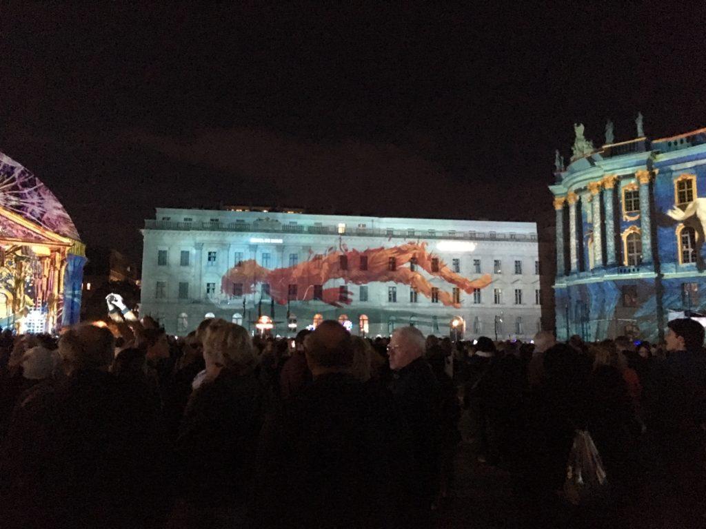 fényfesztivál Berlinben - a magyar versenyző alkotása
