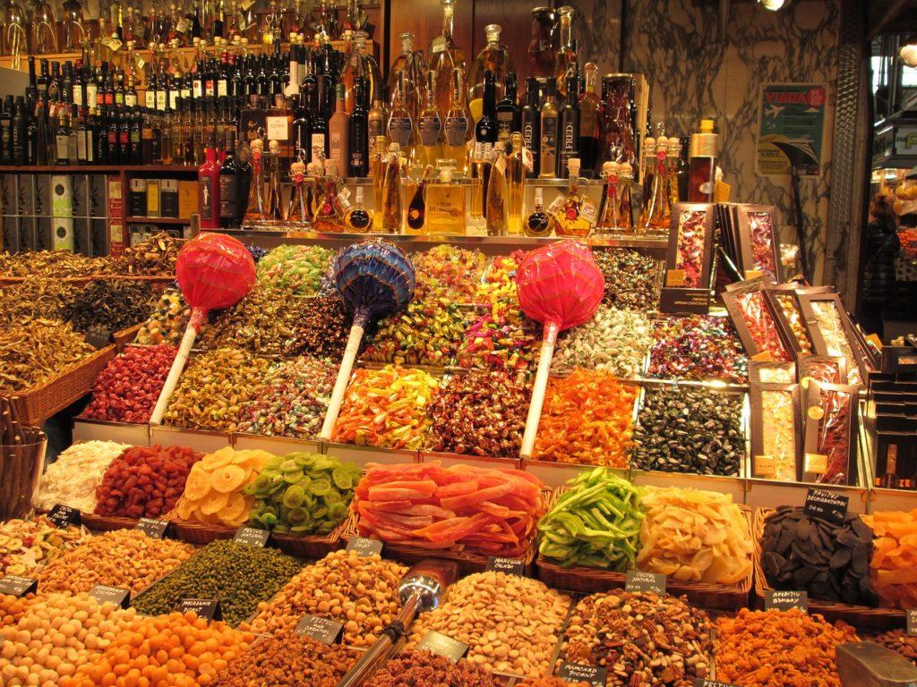 Boquería piac Barcelonában kihagyhatatlan látnivaló