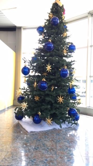 Guadeloupe élménybeszámoló: helyi zlésnek megfelelő hatalmas karácsonyfa