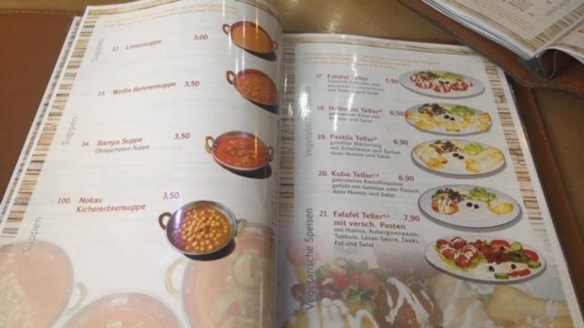 Étlap a kurd étteremben
