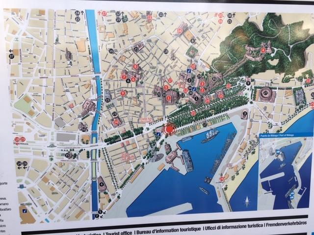 Málaga óvárosának térképe